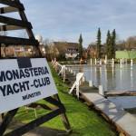 Hinweisschild Monasteria Yachtclub Münster